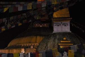 The eyes of Boudanath Stupe, Kathmandu, Nepal