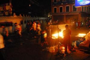 Good business for the vendors, Boudanath Stupa, Kathmandu, Nepal