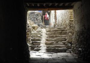 The alleyways of Kagbeni, Lower Mustang, Nepal