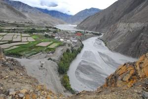 The village of Kagbeni, lover Mustang, Nepal