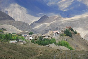 Jharkot from above, looking down the valley, Lower Mustang, Nepal