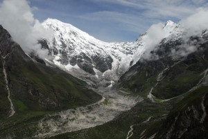 Langtang Lirung and the Lirung Glacier, Kyanjin Gompa, Nepal