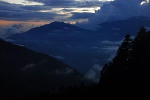 Sunset from Shin Gompa, Nepal