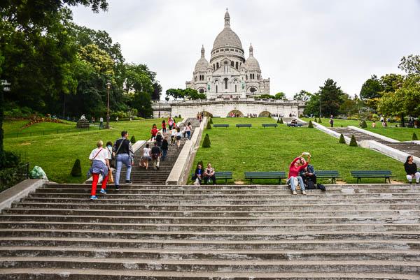 The steps up to Sacre Coeur