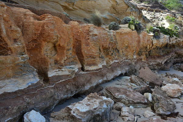 Eroded cliffs at Diamond Bay