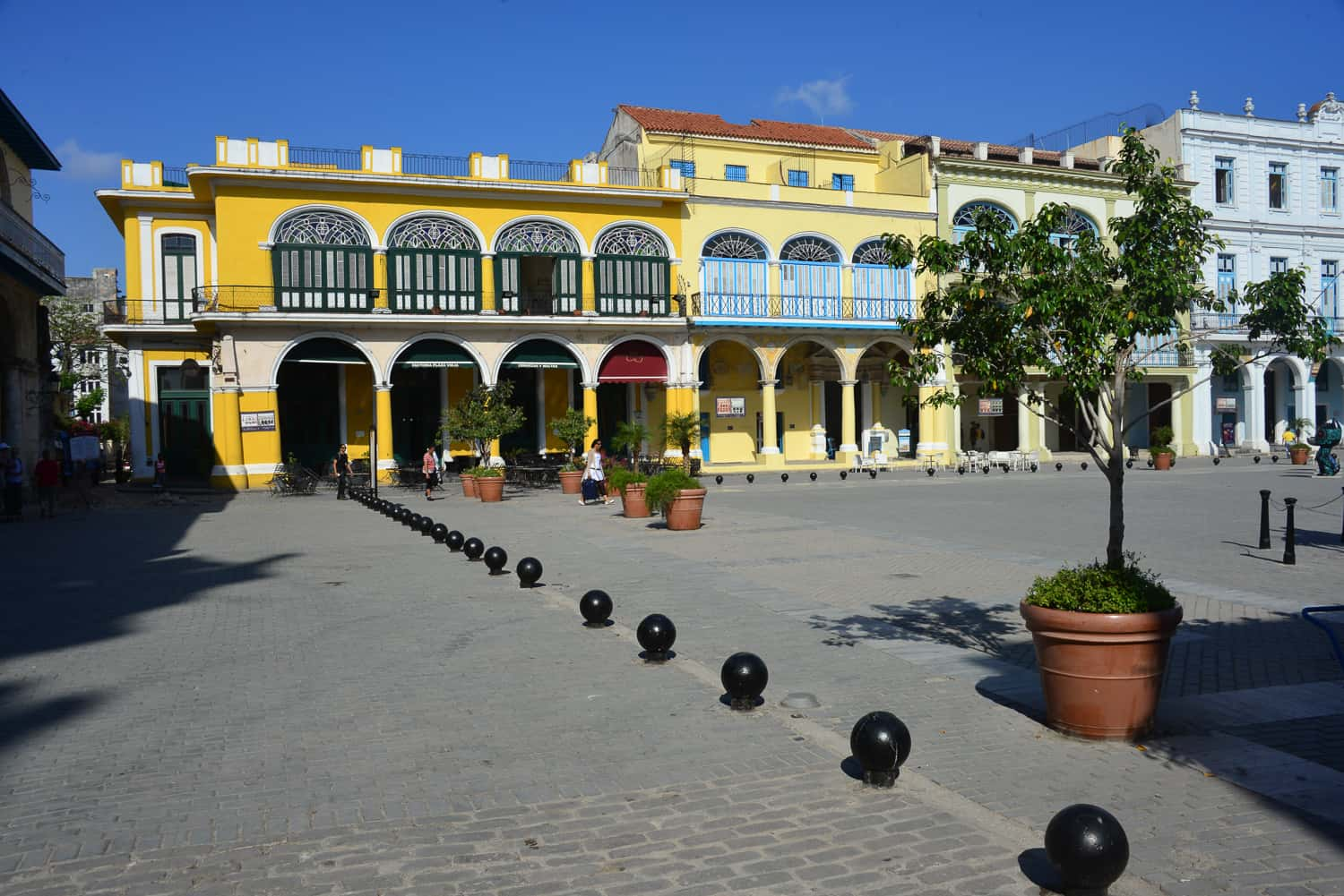 Buildings in this square are fully restored
