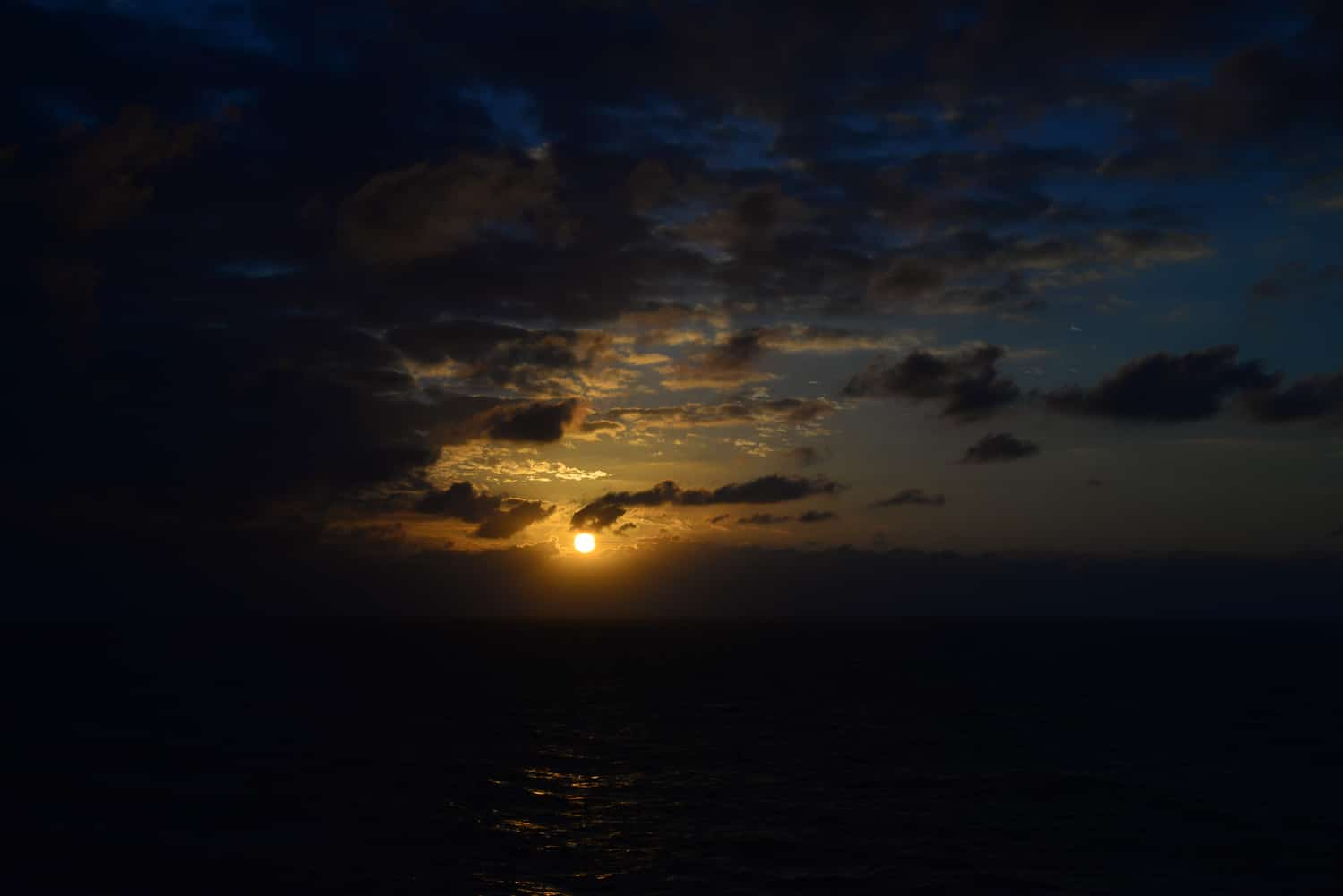 Every night a sunset as we leave the islands of Madeira.