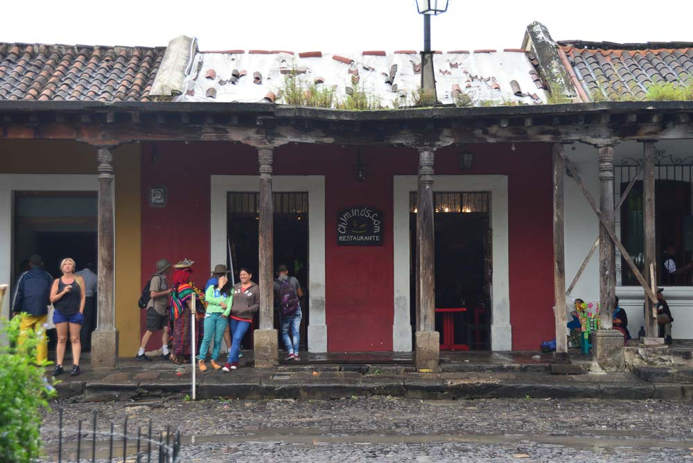 House in the city of Antigua, Guatemala.