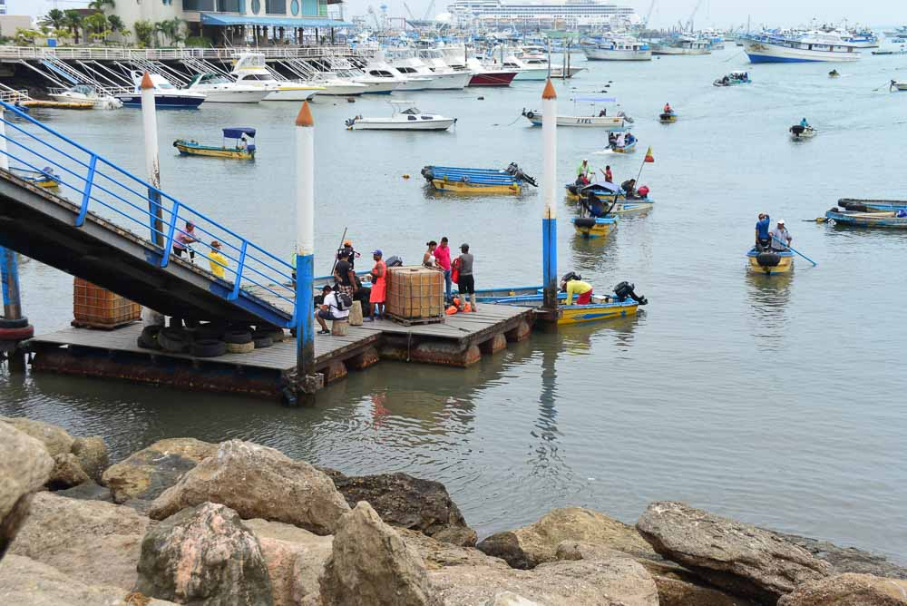 Harbour in Manta, Equador