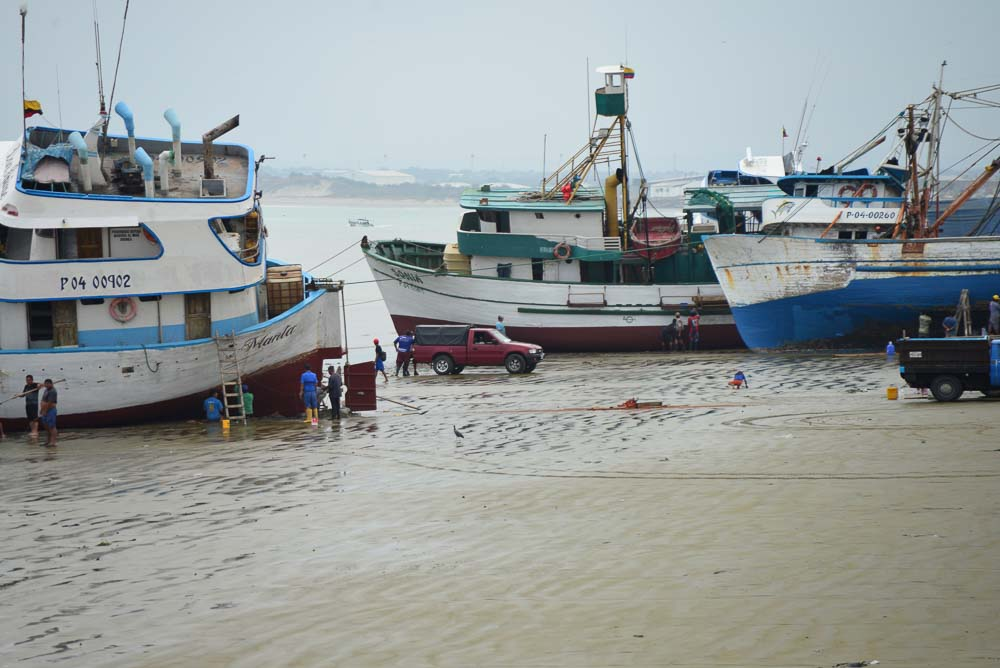 Boats beached in Manta Equador