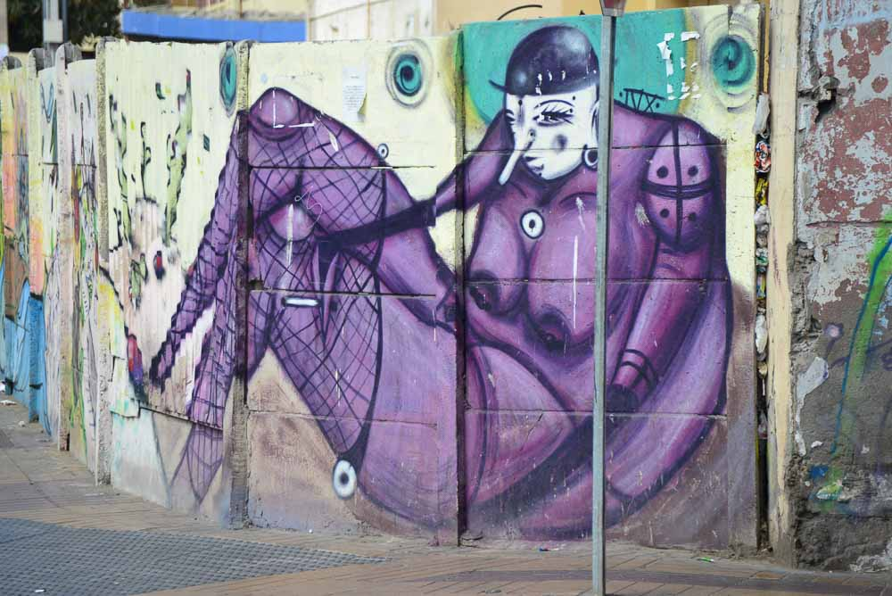 Street art in the port of coquimbo chile