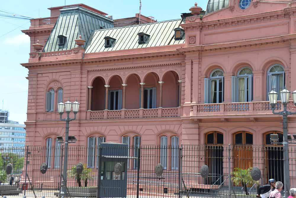 Eva Peron balcony, Pink House in Buenos Aires, Argentina