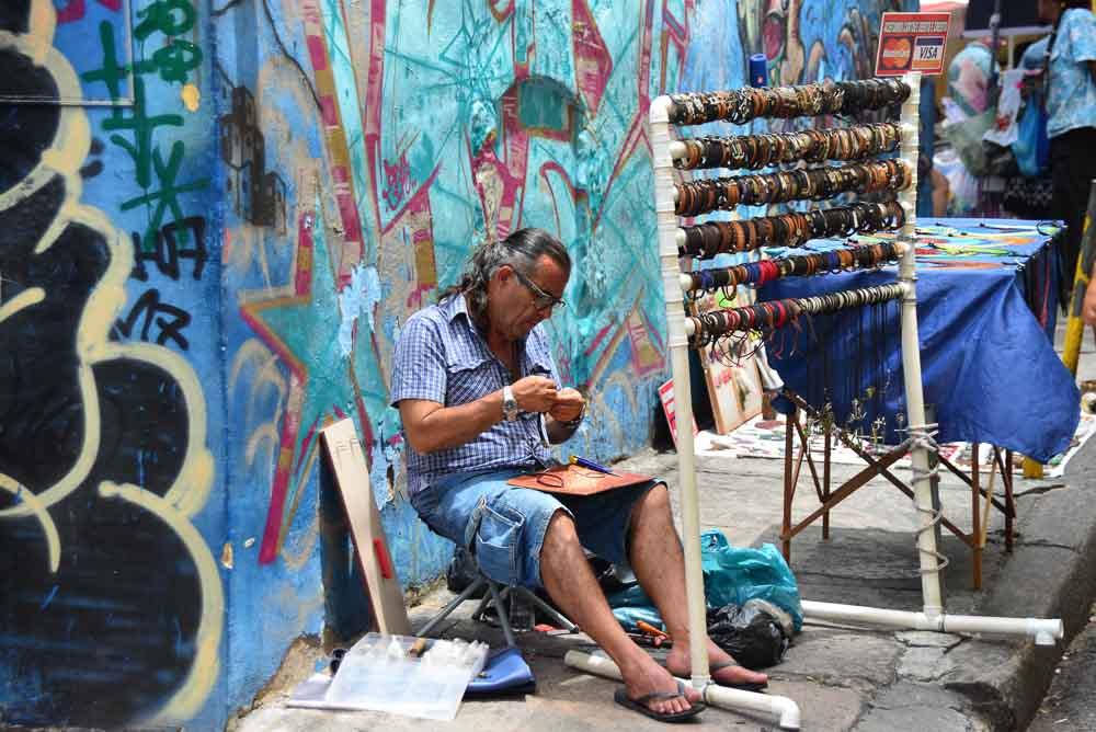 Artist at the Lapa Steps in Rio de Janeiro, Brazil