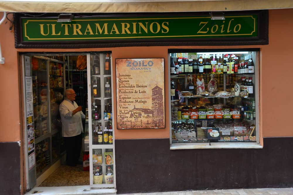 shop in Malaga, Spain