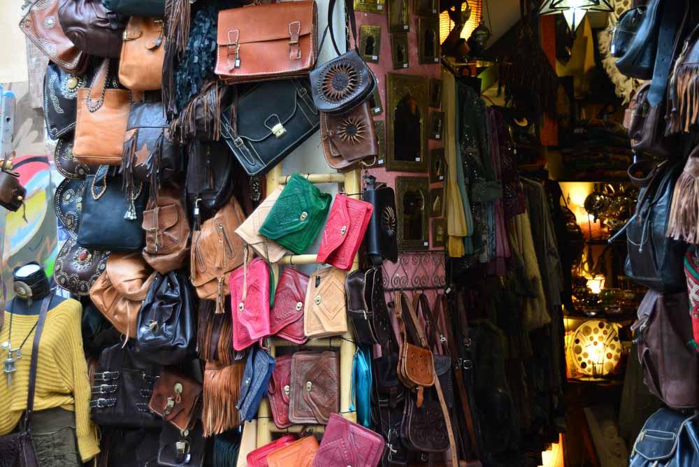 Leather shop in Malaga, Spain