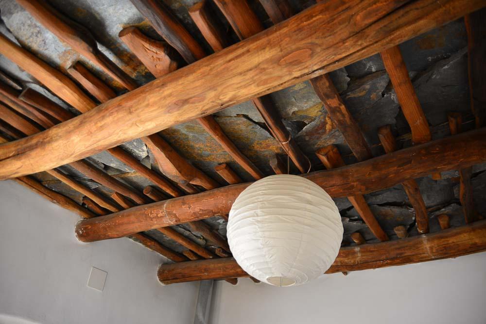 Ceiling construction in Atalbeitar La Taha, Sierra Nevada, Spain