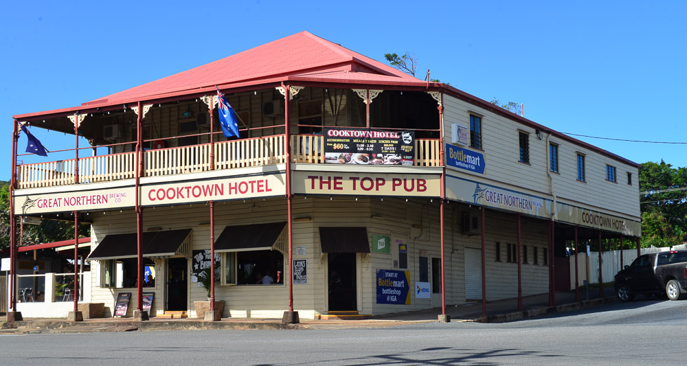 Cooktown and the classic Top End pub. Last time we were here, there were horses tethered outside.
